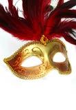 επενδυμένη με φτερά φαντασία μάσκα φορεμάτων Στοκ Φωτογραφία