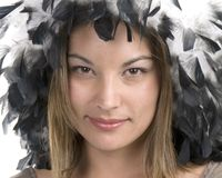 επενδυμένο με φτερά καπέλ&o Στοκ Εικόνα