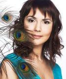 επενδύει με φτερά peacock τις ν&epsilon Στοκ φωτογραφίες με δικαίωμα ελεύθερης χρήσης