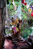 Επενδυμένος με φτερά βασιλιάς Faerie στο βασίλειο Faerie Στοκ φωτογραφία με δικαίωμα ελεύθερης χρήσης