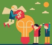Επενδυτής αγγέλου ελεύθερη απεικόνιση δικαιώματος
