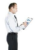 _ επενδυτής με το οικονομικό σχέδιο των εισοδημάτων Στοκ εικόνα με δικαίωμα ελεύθερης χρήσης