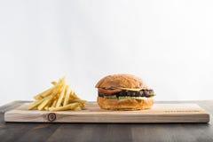 Επεξεργαμένος burger Στοκ φωτογραφία με δικαίωμα ελεύθερης χρήσης