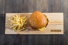Επεξεργαμένος burger Στοκ εικόνα με δικαίωμα ελεύθερης χρήσης