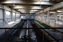 Επεξεργασία καθαρισμού νερού αποβλήτων στοκ εικόνα