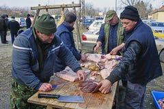 Επεξεργασία κρέατος Στοκ Εικόνα