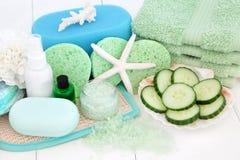 Επεξεργασία ομορφιάς Skincare Στοκ Εικόνες