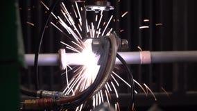 Επεξεργασία πλάσματος ενός σιδηρουργείου από το σύγχρονο εξοπλισμό υψηλής τεχνολογίας απόθεμα βίντεο