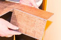 Επεξεργασία του βινυλίου φύλλου πλαστικού Στοκ φωτογραφία με δικαίωμα ελεύθερης χρήσης