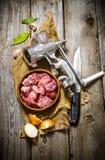 Επεξεργασία του κρέατος Στοκ φωτογραφία με δικαίωμα ελεύθερης χρήσης