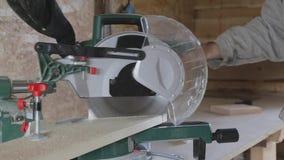 Επεξεργασία του ξύλου στο εργαστήριο απόθεμα βίντεο