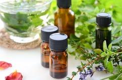 Επεξεργασία Aromatherapy με τα χορτάρια και το ποτό Στοκ Εικόνες