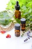 Επεξεργασία Aromatherapy με τα χορτάρια και το ποτό Στοκ Εικόνα