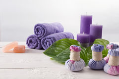 Επεξεργασία SPA και aromatherapy υπόβαθρο Στοκ Εικόνες