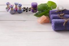 Επεξεργασία SPA και aromatherapy υπόβαθρο Στοκ Φωτογραφία