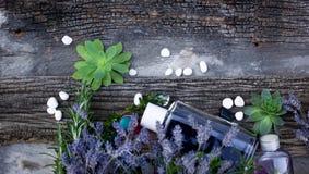 Επεξεργασία SPA με lavender το πετρέλαιο Στοκ φωτογραφία με δικαίωμα ελεύθερης χρήσης