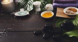 Επεξεργασία SPA, aromatherapy υπόβαθρο Λεπτομέρειες και εξαρτήματα Στοκ Εικόνα