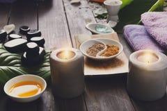 Επεξεργασία SPA, aromatherapy υπόβαθρο Λεπτομέρειες και εξαρτήματα Στοκ Φωτογραφίες
