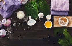 Επεξεργασία SPA, aromatherapy υπόβαθρο Λεπτομέρειες και εξαρτήματα Στοκ φωτογραφίες με δικαίωμα ελεύθερης χρήσης