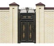 Επεξεργασμένη πόρτα κομψότητας στοκ φωτογραφία