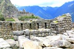 επεξεργασμένη τοιχοποιία σε Machu Picchu, Περού στοκ εικόνα