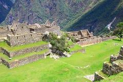 επεξεργασμένη τοιχοποιία σε Machu Picchu, Περού στοκ φωτογραφία