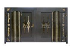 Επεξεργασμένος σίδηρος, χάλυβας, διακοσμητικές πύλες στοκ εικόνες