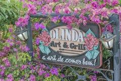 Επεξεργασμένο έμβλημα Olinda, Βραζιλία εστιατορίων Στοκ Φωτογραφίες