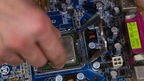Επεξεργαστής υπολογιστών επισκευής απόθεμα βίντεο