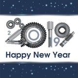 2019 επετείου έτη εργαλείων βιομηχανίας - απεικόνιση Νέοι χαιρετισμοί έτους s Αφίσα, έμβλημα ελεύθερη απεικόνιση δικαιώματος