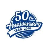 50 επετείου έτη προτύπων σχεδίου Διάνυσμα και απεικόνιση 50ο λογότυπο ελεύθερη απεικόνιση δικαιώματος