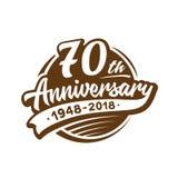 70 επετείου έτη προτύπων σχεδίου Διάνυσμα και απεικόνιση 70ο λογότυπο διανυσματική απεικόνιση