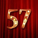 57 επετείου έτη σχεδίου εορτασμού ελεύθερη απεικόνιση δικαιώματος