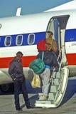 Επιβάτες με τις αποσκευές Στοκ Εικόνες