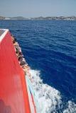 Επιβάτες στη βάρκα Στοκ Φωτογραφίες