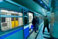 επιβάτες της Μόσχας μετρό Στοκ φωτογραφία με δικαίωμα ελεύθερης χρήσης