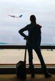 Επιβάτης αέρα που περιμένει την πτήση στοκ φωτογραφίες με δικαίωμα ελεύθερης χρήσης