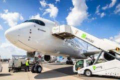 Επιβάτης αεροπλάνου airbus A350 XWB Στοκ Φωτογραφίες