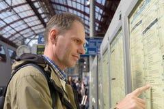 Επιβάτης στο χρονοδιάγραμμα Στοκ Εικόνες