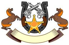 επιβήτορας πυροβόλων όπλων horseshoewhite Στοκ φωτογραφία με δικαίωμα ελεύθερης χρήσης