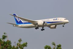 Επιβατηγά αεροσκάφη της ANA Στοκ Εικόνες