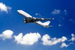 επιβατηγό αεροσκάφος από τη λήψη Στοκ Εικόνα