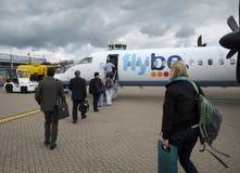 επιβιβαμένος επιβάτες Στοκ Εικόνες