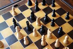 επιβιβαστείτε στο σκάκι στοκ εικόνες