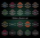 Επιγραφές αυγών Πάσχας Στοκ εικόνα με δικαίωμα ελεύθερης χρήσης