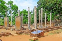 Επιγραφές πλακών Mihintale Anuradhapura, παγκόσμια κληρονομιά της ΟΥΝΕΣΚΟ της Σρι Λάνκα Στοκ Φωτογραφίες