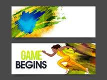 Επιγραφή ή έμβλημα ιστοχώρου για την έννοια παιχνιδιών Στοκ Εικόνες