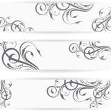 Επιγραφή ή έμβλημα ιστοχώρου που τίθεται με το όμορφο floral σχέδιο Στοκ φωτογραφία με δικαίωμα ελεύθερης χρήσης