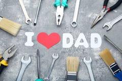 Επιγραφή Ι μπαμπάς αγάπης Στοκ Εικόνες