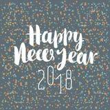 Επιγραφή καλή χρονιά 2018 με snowflakes ελεύθερη απεικόνιση δικαιώματος